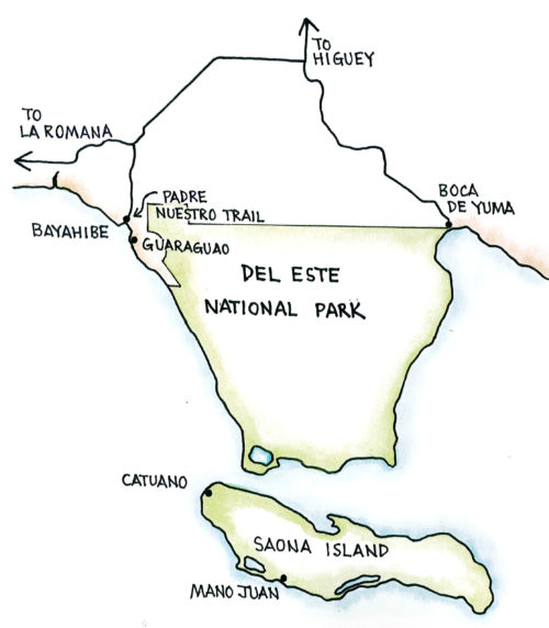 Del Este National Park (Map by Dana Gardner)