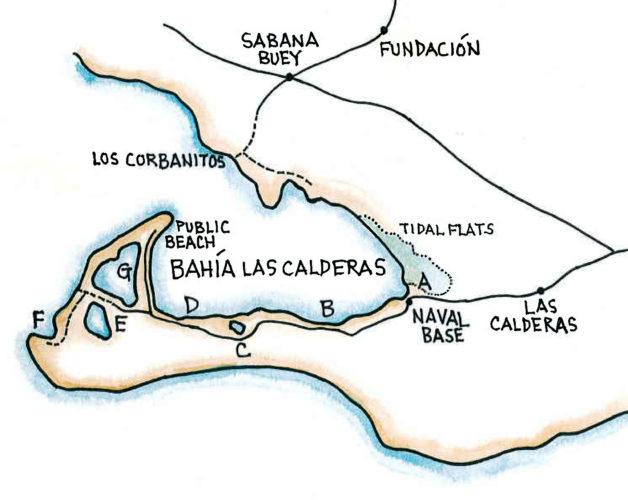 Bahía las Calderas (Map by Dana Gardner)