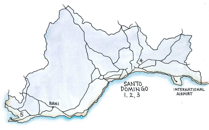 Santo Domingo Region (Map by Dana Gardner)