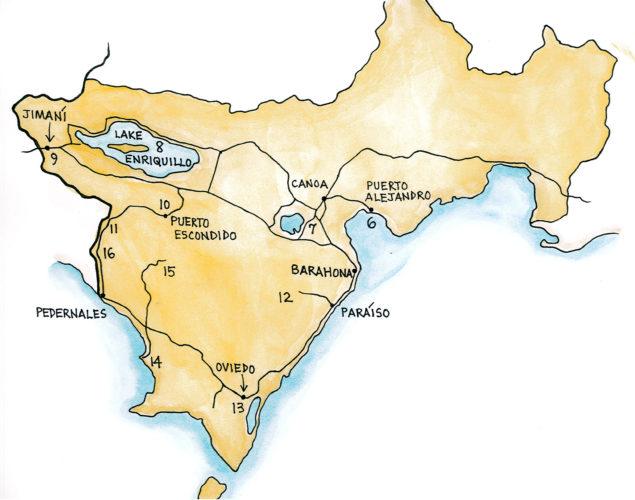 Enriquillo-Bahoruco-Jaragua Biosphere Reserve Region (Map by Dana Gardner)