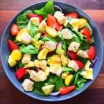 Quick and tasty pan-seared Swordfish salad