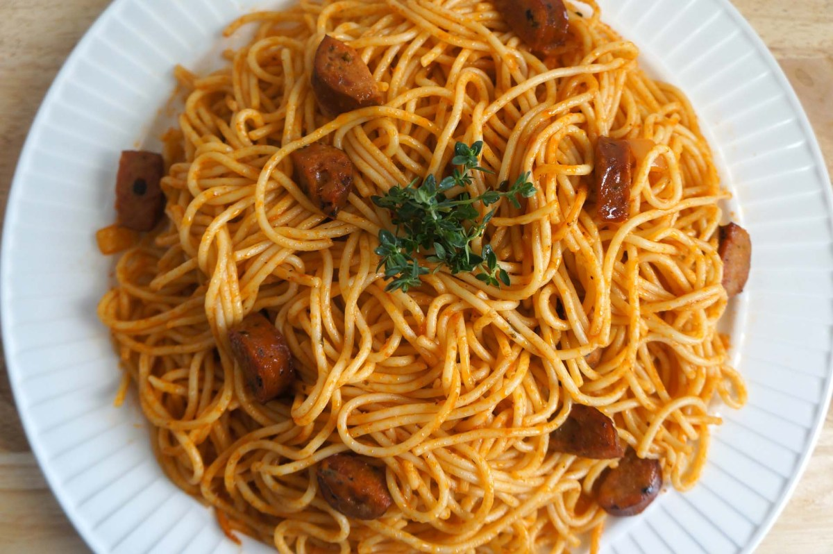 My version of Haitian Spaghetti