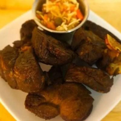 Tassot de Cabrit or Fried Goat Meat Bits