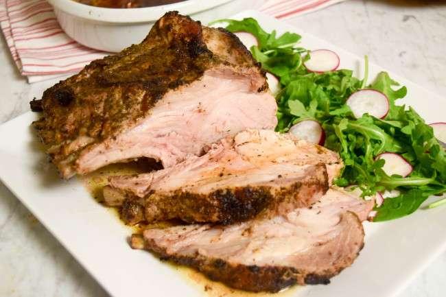 Pork Roast Sliced - caribbeangreenliving.com