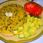 Cornmeal with Spinach