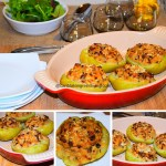 Baked Chayote (Mirliton) Stuffed with Crabmeat