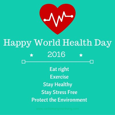 Today is World Health Day! Wishing you good health