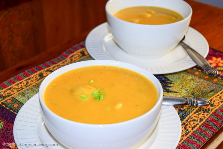 Creamy Yellow Split Peas Soup with Dumplings