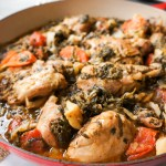 Spicy Chicken with Cabbage, Spinach, and Carrot