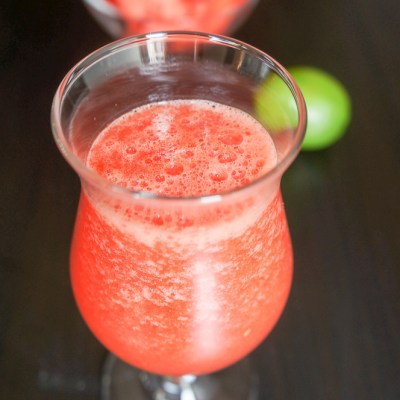 A tasty watermelon limeade drink full of surprises