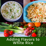 How to add flavor to white rice