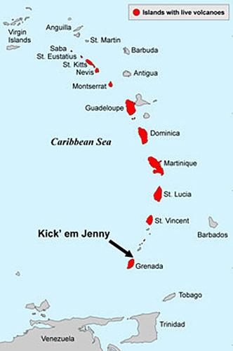 Scientists explore Grenada's underwater volcano ...