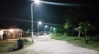 GEA takes solar street lights to Bartica