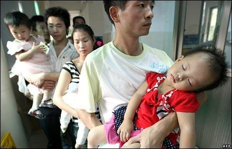 Sick Chinese babies.