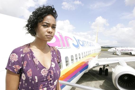 Tatyana Ali (Marva Johnson) arrives in Jamaica. Photo courtesy www.straight.com