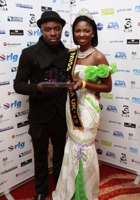 GUBA award winner Fuse ODG and Miss Ghana UK 2013