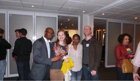 Alieu and 3 graduates from Bandwidth Barn