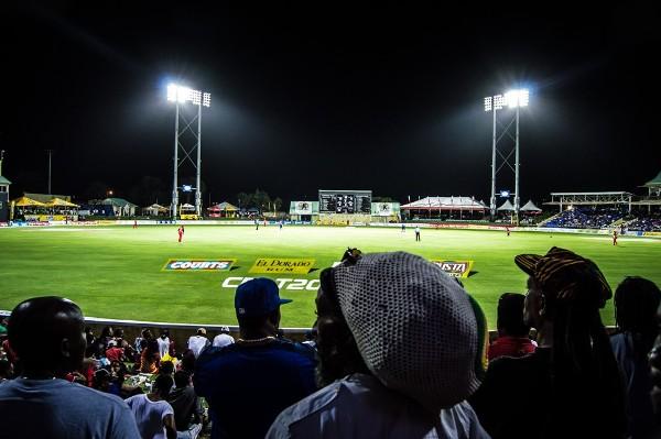 Fans enjoying the cricket at Warner Park. Photo courtesy SKNIS