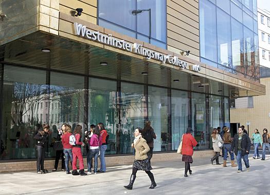 Westminster Kingsway College. Photo courtesy www.camdennewjournal.com