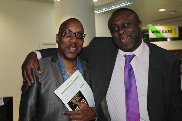 (l-r) CaribDirect's CEO David F. Roberts and event moderator, BBC's Dotun Adebayo