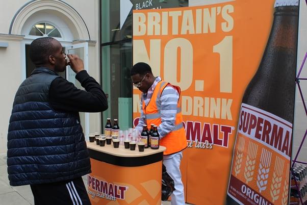Supermalt stall proves a hot product. Photo courtesy CaribDirect