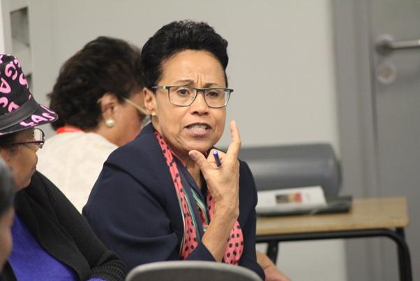 Dr Roli Degazon-Johnson introduced Professor Harris. Photo courtesy CaribDirect