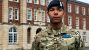 Top ranking cadet. Kidane Cousland. Image courtesy BBC.co.uk