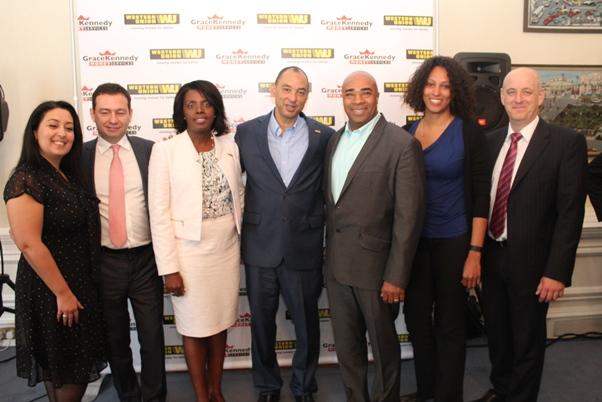 A few of the senior members of GraceKennedy / Western Union team. Photo courtesy CaribDirect