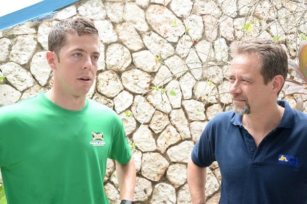 Team Captain Christopher Binnie (left) with Chris Hind.