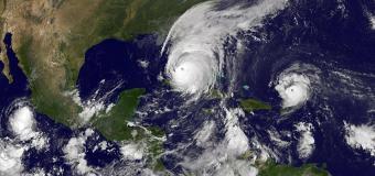 Hurricane Maria moving through the Caribbean