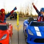 Power Wheels Racing – Spiderman vs Captain America Full Race HD!
