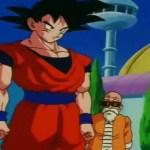 Goku les dice a Milk, Bulma, y a los demás que Gohan y Vegeta murieron