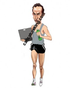 running caricature