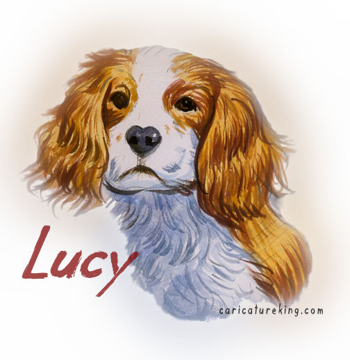dog caricature art picture