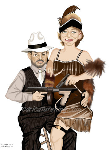 gangsters caricature