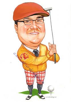 golfer-in-hat-artworkgift-idea