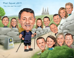 group caricature gift
