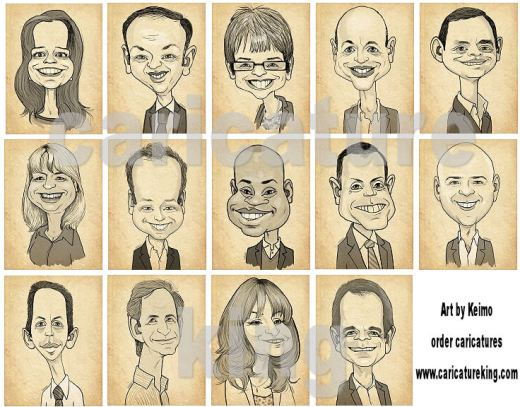 staff caricatures