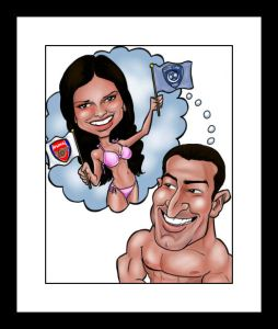 engagment caricature from caricatureking.com
