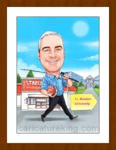 retirement man gift art from caricatureking.com