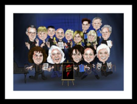 group caricature of teachers