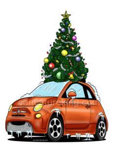 Christmas car xmas tree idea