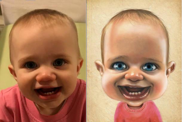 Baby caricature art