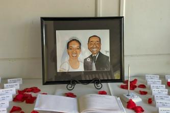 wedding caricature use