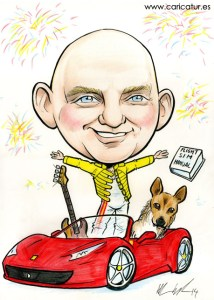 Caricature present by Allan Cavanagh, available all over Ireland