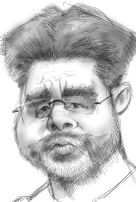 Caricature of manager David Wagner