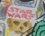 Star Wars logo drawing with Chewbacca