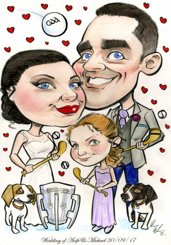 GAA Wedding with Liam McCarthy Cup!