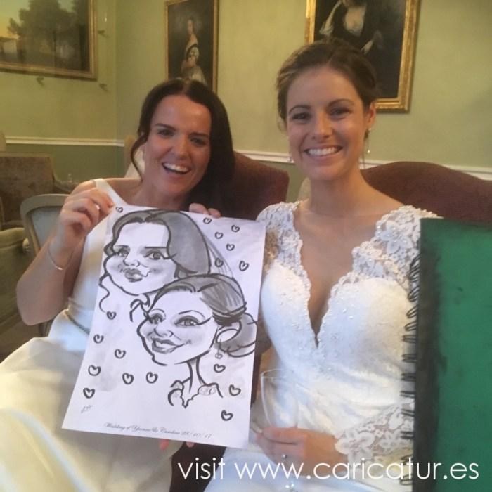 Carton House Hotel Weddings caricatures by Allan Cavanagh