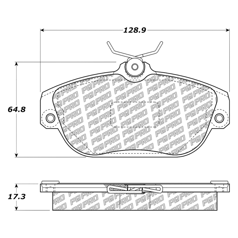 For Volvo S90 97 98 Centric Posi Quiet Pro Semi Metallic